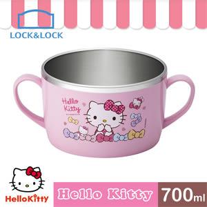 全新福利品 限量1組 HELLO KITTY 不鏽鋼湯杯/700ML(LKT426)