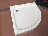 【麗室衛浴】圓弧型壓克力 90*90*13CM 淋浴底盆 LS-5390