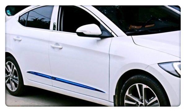 【車王小舖】現代 Hyundai Super Elantra 車身飾條 車門飾條 防刮飾條 不銹鋼