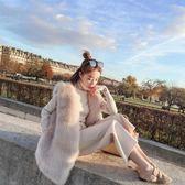 2018新款仿狐貍毛皮草馬甲女冬中長款 韓版皮毛一體毛毛背心外套【博雅生活館】
