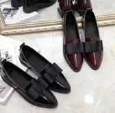 平底小皮鞋百搭一腳蹬女鞋FA04909『時尚玩家』