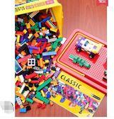 小顆粒積木益智塑料拼裝插玩具【不二雜貨】
