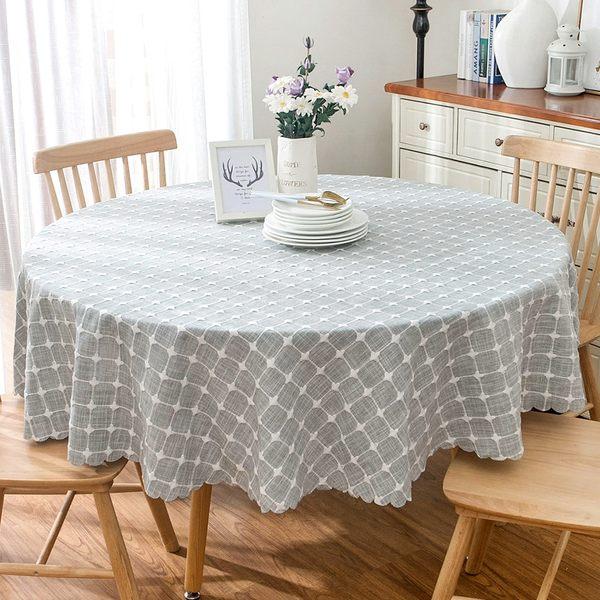 時尚可愛空間餐桌布 茶几布 隔熱墊 鍋墊 杯墊 餐桌巾 637 (直徑100cm)