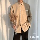 襯衫男 2020新款長袖襯衫男正韓潮流很仙的襯衣痞帥休閒寬鬆百搭個性上衣