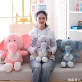 抱著睡覺的娃娃公仔床上可愛女孩毛絨玩具兒童布大象抱枕大號TA6459【極致男人】