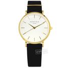 ROSEFIELD / WBLG-W71 / 簡約典雅 超薄 日本機芯 真皮手錶 白x金框x黑 33mm