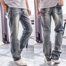 美式復古刷色高磅數牛仔褲