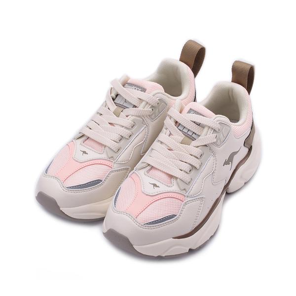 KANGAROOS 袋鼠 SWING 復古老爹鞋 白粉棕 KW01189 女鞋