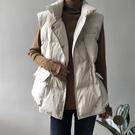 韓版寬鬆羽絨棉馬甲棉服女外穿短款百搭馬夾坎肩冬季加厚背心外套