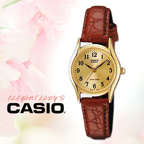 CASIO卡西歐  手錶專賣店 CASIO 手錶 LTP-1094Q-9B 女錶 指針錶 皮革錶帶 防水 金面數字