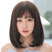 長假髮(整頂)-內彎梨花頭蓬鬆中長直髮女假髮2色73rr8【巴黎精品】