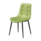 【森可家居】海柔綠色皮餐椅 8ZX977-16 北歐風 馬卡龍 出清折扣