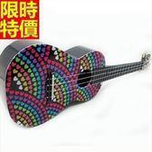 烏克麗麗ukulele-24吋可愛印花四弦琴樂器6款69x40[時尚巴黎]