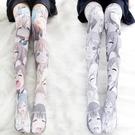 ※情趣襪子※二次元彩色動漫印花過膝襪360度旋轉數碼印刷大腿襪哭泣臉美腿襪W0671