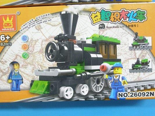 萬格積木 蒸汽火車積木 26092N 火車系列(小)/一款入(促150) 火車模型 益智積木