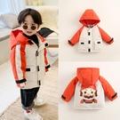 男童外套   兒童裝棉服秋冬季新款加厚男童棉衣寶寶冬裝女童棉襖工裝外套  童趣屋