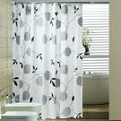 浴室浴簾布加厚防水防霉浴簾套裝免打孔伸縮桿衛生間窗簾門簾掛簾