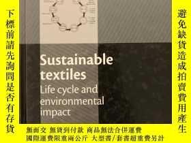 二手書博民逛書店Sustainable罕見Textiles: Life Cycl