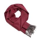 Alpaka Scarf 100% 30x200cm 極致魚骨紋系列 素面單色 羊駝毛 超輕量 圍巾(紅潤櫻桃)