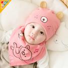 春秋純棉0-3個月嬰兒帽子秋季1歲女寶寶公主可愛6秋冬12韓版秋天5