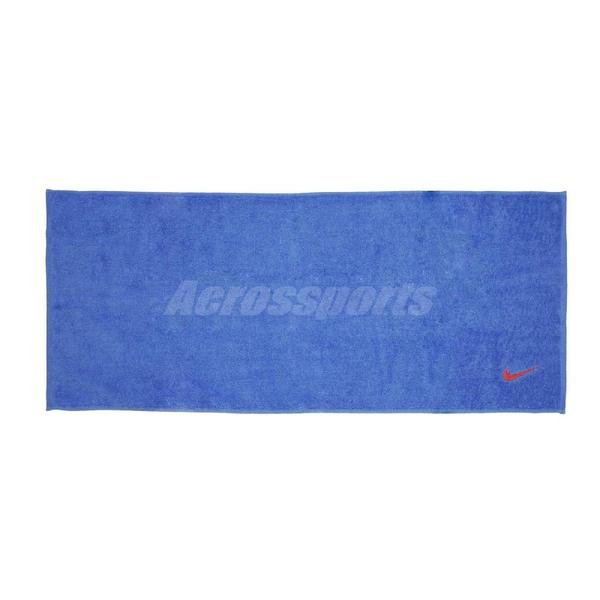 Nike 毛巾 Towel 藍 紅 長版 運動毛巾 盒裝 純棉材質 勾勾 【PUMP306】 NTTC245-3NS NTTC245-3NS