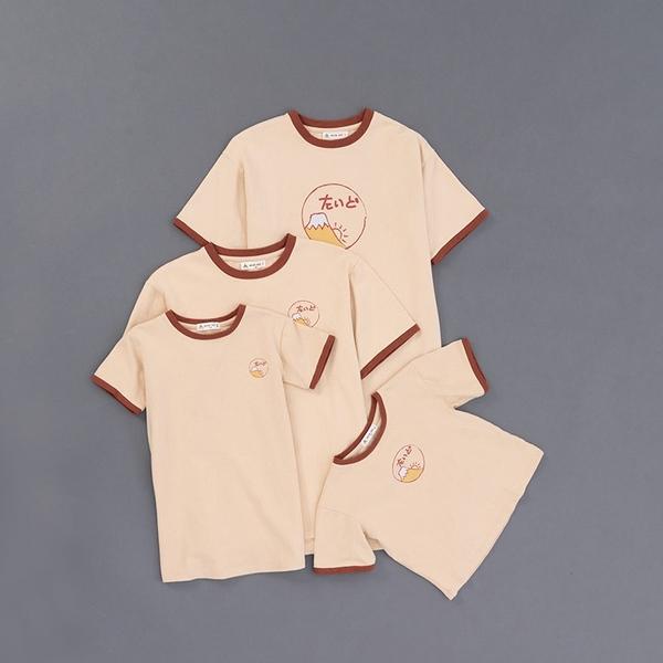Queen Shop【01038673】男裝 親子系列 富士山印圖日文撞色TEE S/M/L/XL*現+預*