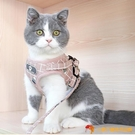 貓牽引繩背心式遛貓繩子外出胸背帶貓咪專用【小獅子】