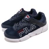 FILA 慢跑鞋 J526S 藍 深藍 白 休閒鞋 透氣網布 運動鞋 基本款 男鞋【PUMP306】 1J526S331