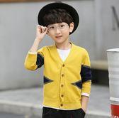 童裝春裝男童毛衣外套兒童針織衫開衫日韓中大童