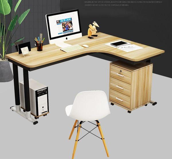 電腦桌轉角電腦桌台式家用寫字台簡約鋼木書桌學生拐角桌L型簡易辦公桌【全館免運限時八折】