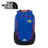 【The North Face 美國 28L 15吋電腦背包《藍/黑》】CHJ0/電腦包/後背包/通勤包
