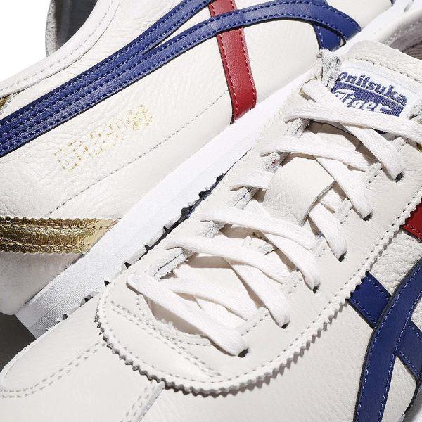 Asics 復古慢跑鞋 Mexico 66 白 藍 紅 皮革 金標 低筒 休閒鞋 基本款 男鞋 女鞋 亞瑟士【PUMP306】D507L0152
