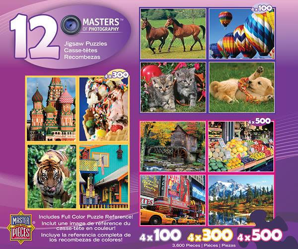 【美國 Master Pieces】盒裝拼圖-12 Puzzle Deluxe Set(12組拼圖豪華組)