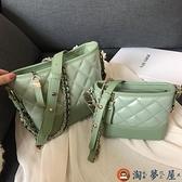 水桶斜背包包包女包時尚簡約百搭側背流浪包【淘夢屋】