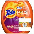 美國汰漬Tide 新一代洗衣凝膠球(2020g/81顆)*1*+ Tide洗衣槽