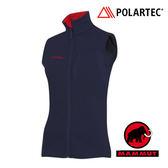 【MAMMUT 長毛象】女 Polartec® Themal Pro 刷毛保暖背心 深藍 1010-17890