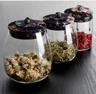 茶葉罐 茶罐 玻璃茶葉罐 透明便攜密封罐小號儲存罐茶葉盒花茶玫瑰花罐子【快速出貨八折搶購】