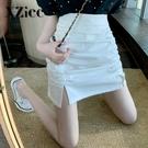 百褶裙 夏季百褶半身裙子女裝2021年新款夏裝設計感小眾包臀a字短裙春款 晶彩