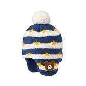 HOT BISCUITS 餅乾熊護耳毛線帽(藏藍)