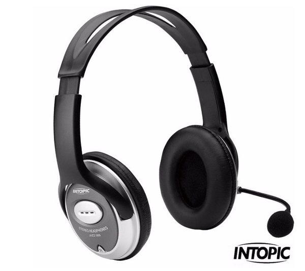 新竹【超人3C】INTOPIC 廣鼎-頭戴式耳麥 JAZZ-358 蛇管軟質麥克風 特殊人體工學設計 立體環繞音效