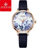 JULIUS 聚利時 森林精靈印花復古時尚腕錶-深邃藍/29mm 【JA-1101E】