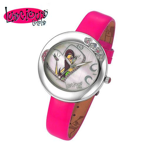 【Luscious Girls】一見傾心華麗浪漫風鑽錶-桃紅