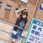 新品韓版學生顯瘦無袖t恤上衣潮