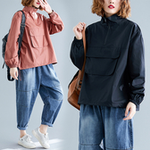 大碼女裝秋冬新款100公斤胖mm遮肚子減齡洋氣寬鬆顯瘦長袖上衣外套