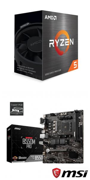 【自組DIY兩件組R56】AMD R5 5600X+微星 B550M PRO