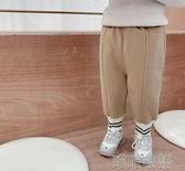 男童長褲-童裝男童冬裝加絨褲寶寶純色休閒褲兒童洋氣百搭潮童運動褲 喵喵物語
