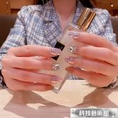 高品質 色粉制作假指甲成品 可穿戴美甲貼片成品奶茶色顯手白 交換禮物