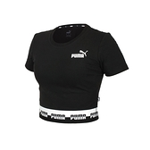 PUMA 女短版短袖T恤(歐規 休閒 上衣 Amplified 免運 ≡排汗專家≡
