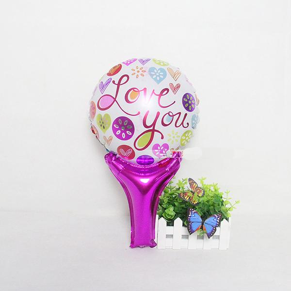一定要幸福哦~~愛心鋁箔膜氣球棒40*24公分,婚禮裝飾布置,求婚道具, 婚紗照錫箔球 生日