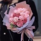 香皂花束玫瑰花仿真花束禮盒ins超火的生日禮物母親節同款